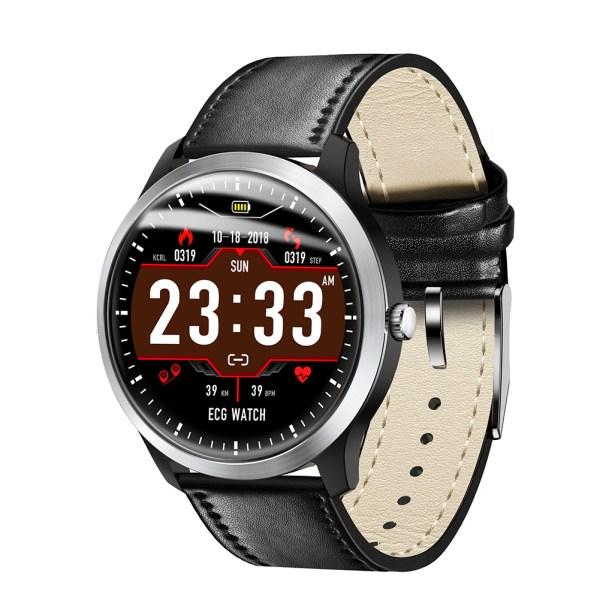 N58 Smart Watch Sports Bracelet PPG ECG HRV Report Heart Rate Blood Pressure Test Monitor Pedometer - Black 2
