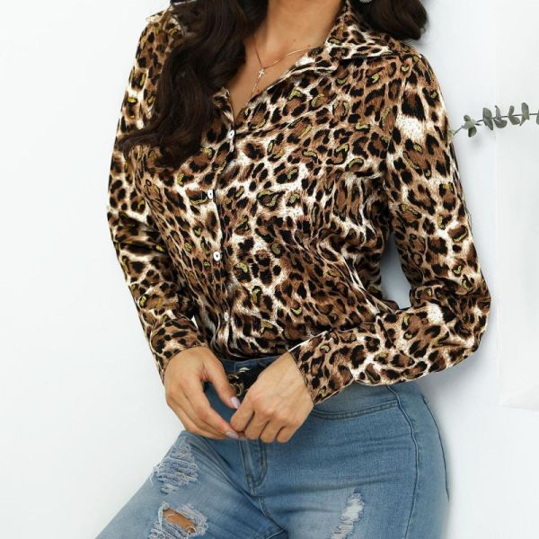 Leopard Print Button Through Casual Shirt 2