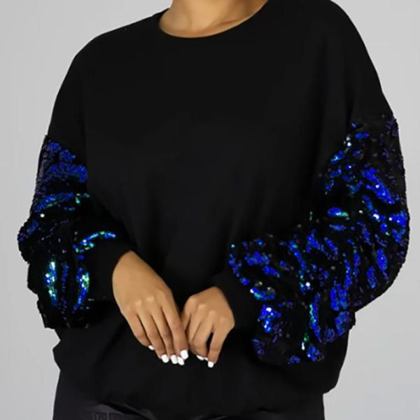Sequins Long Sleeve Casual Blouse 2