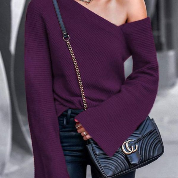 Bell Sleeve Pullover Casual Blouse 2