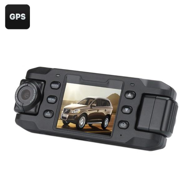 Carcam III Car DVR - 2 x 180 Degree Rotating Cameras, 2.3 Inch LCD Screen, G-Sensor, GPS, 140 Degree Lens 2