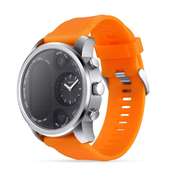 T3 Color Screen Smart Bracelet Heart Rate Blood Pressure Sleep Monitor - Orange 2