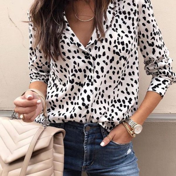 Dot Long Sleeve Casual Shirt 2