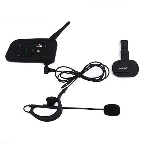VNETPHONE 1200M Waterproof Motorcycle Helmet Interphone Full Duplex Bluetooth Intercom Headset V6C with Armband Referee Intercom Comunication Headphones 2
