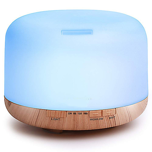 ASAKUKI 300ml/500ml Aroma Diffuser/ Humidifier Support Adjustable Mist Mode/ Timer/ Auto Shut-off Function Cool Mist Humidifier with 7-color LED Light for Bed Room 2