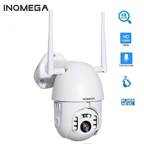 INQMEGA 1080P IP Camera WiFi PTZ 2.0MP Wireless Auto Tracking PTZ Speed Dome Home Security Camera Two Way Audio Cloud Storage Outdoor Waterproof Camera Max Support 128GB 2