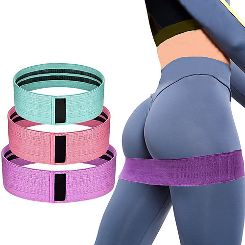 Booty Hip Bands Resistance Bands for Legs and Butt 5 pcs Sports Mesh Cotton Latex silk Home Workout Yoga Pilates Stretchy Flexible Thick Anti Slip High Elasticity Stretching Helps to Lift, Tighten 2