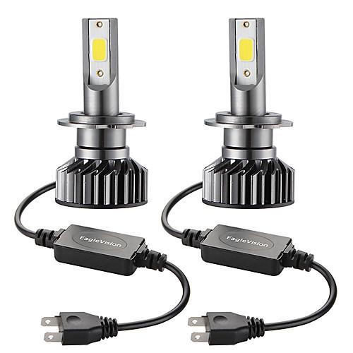 2PCS Mini Car LED Headlight Bulb  H7 Hi/Lo 72W 10000LM Car Headlight Car Front Bulb Super Bright White Beam 6000K 12V Car Modeling Fog Light Kit 2