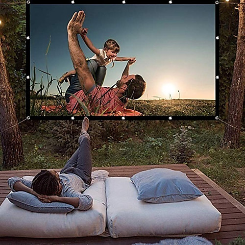 120 Inch Projector Screen 169 HD Foldable Portable Anti-crease Projector Movies Screen for Home Theater 2