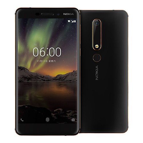 NOKIA 6 5.5 inch inch 4G Smartphone (4GB  64GB 16 mp Snapdragon 630 3000 mAh mAh) / 19201080 / Octa Core / FDD(B1 2100MHz) / FDD(B3 1800MHz) / FDD(B5 850MHz) 2