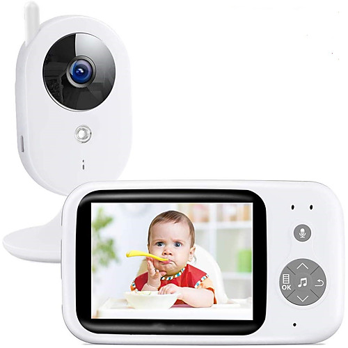 DIDseth Wireless Video Color Baby Monitor PAL NTSC 352 X 240 IP Camera with 3.2Inches LCD IR Camera 2 Way Audio Talk Night Vision Surveillance Security Camera 2