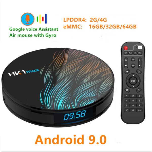 HK1 Max Android 9.0 4K Wifi Smart TV Box - 4GB RAM, 32GB ROM, US Plug 2