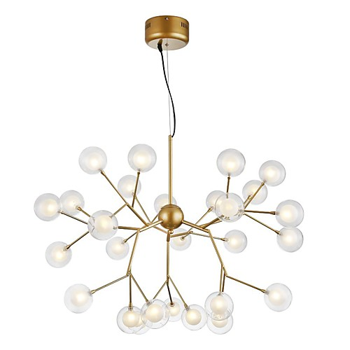 27-Light 75 cm Creative / New Design Chandelier Metal Glass Sputnik Painted Finishes Artistic / Globe 110-120V / 220-240V 2