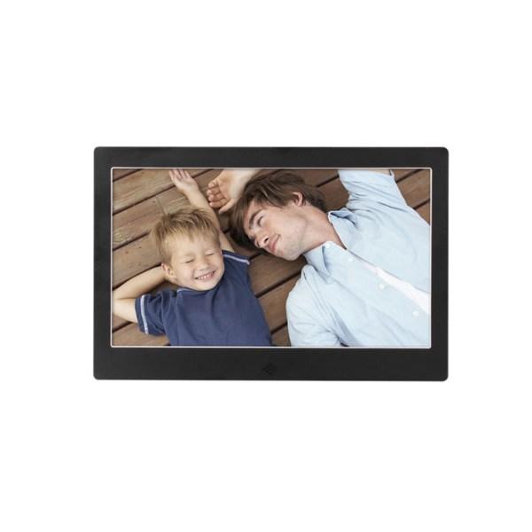 10 Inch Metal LED Digital Photo Frame Video Music Calendar Clock Player 1024x600 Resolution 2