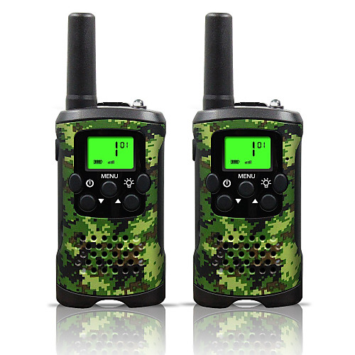Two Way Radio Intercom 22 Channel 3 Miles Long Range Kids Walkie Talkies Boys Girls Toys Gifts Battery Powered Walky Talky with Flashlight for Outdoor Adventure Camping (Camo) 2