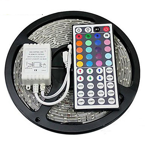 ZDM 5M Waterproof 300 x 2835 8mm RGB LED Strips Light Flexible and IR 44Key Remote Control   Linkable  Self-adhesive  Color-Changing 2