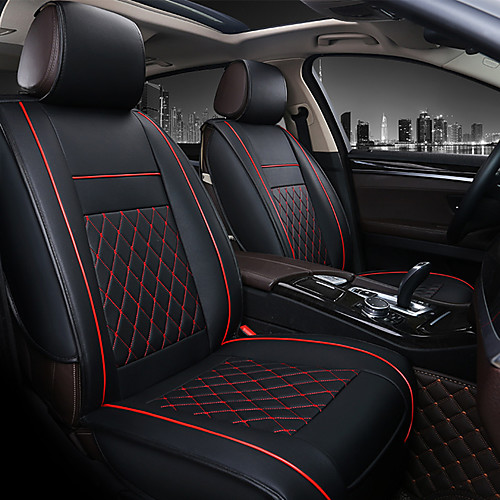 PU Leather Breathable Non-slip Car Seat Covers Cushion Accessories Single seat cover without headrest and lumbarrest for Universal 2