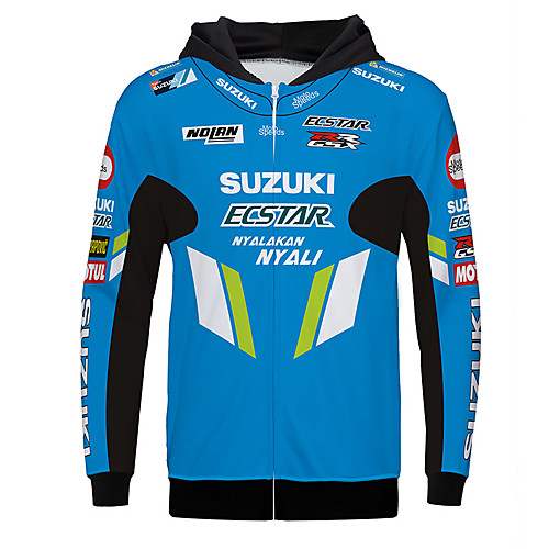 SUZUKI Spring / Fall / Winter Polyster Warmer Breathable fast dry Racing Jersey Motorcycle Jersey Clothes Jacket for Unisex 2