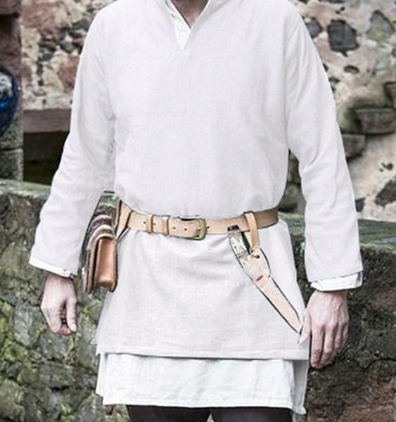 Men Medieval Stage Style V-neck T-Shirt 2