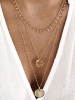 Gold Coins Decor Muti-layer Necklace 3