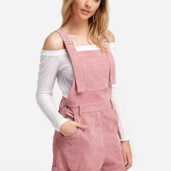 Pink Side Pockets Girls Fashion Playsuits 2