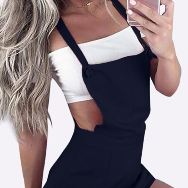 Casual Tie-Strap Playsuits in Navy 2