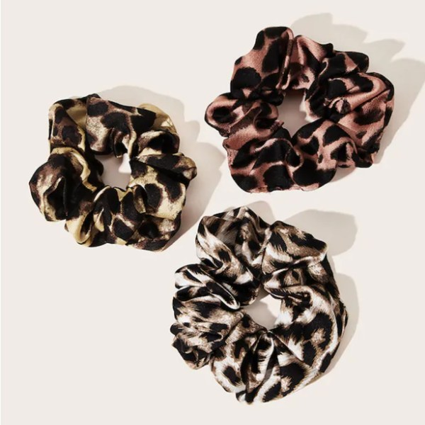 Leopard Suede High Elasticity Bands Hair Ring 1