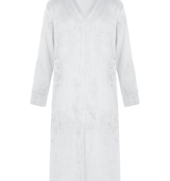 Men Soft Bath Robe Flannel Fleece Warm Dressing Gown 2
