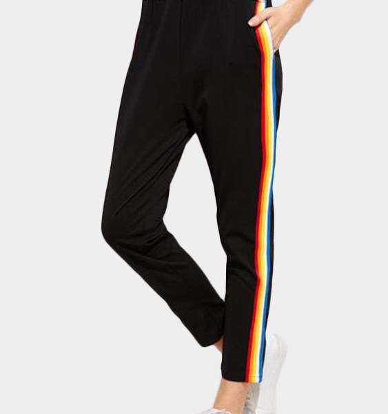 Black Stripes Sports Pants 2