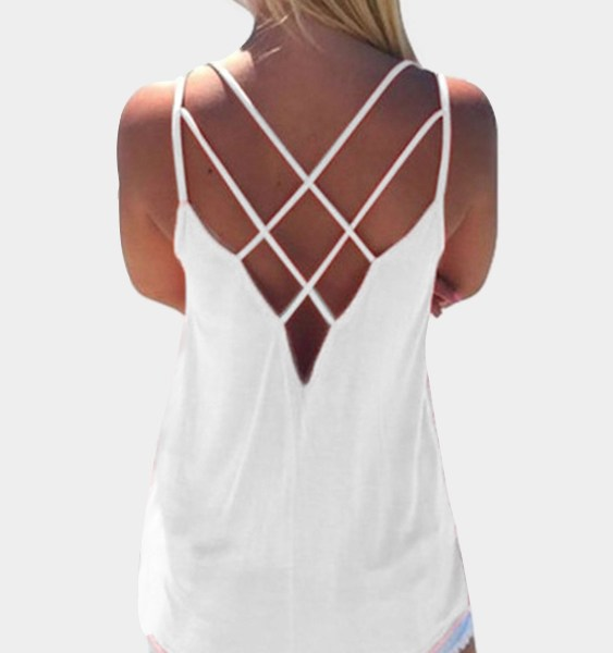 White Cross Front Top 2