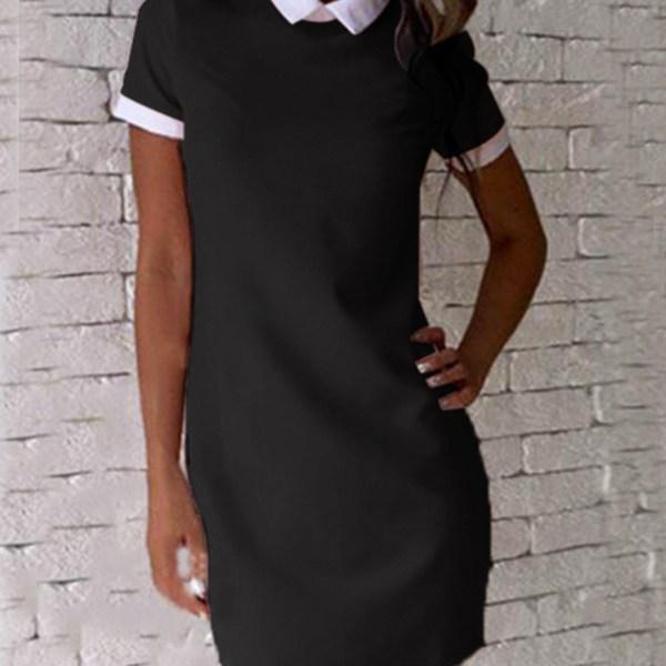 Black Mini Dress With Short Sleeves 2
