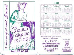 Calendario ADAVAS 1996