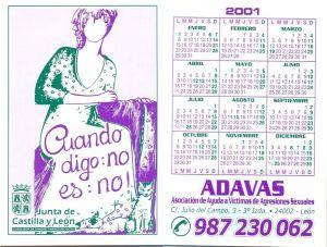 Calendario ADAVAS 2001
