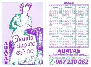 Calendario ADAVAS 2003