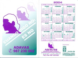Calendario ADAVAS 2004