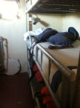 Sailors' quarters were spare and tight.