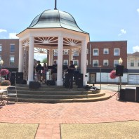 A local church group performs in the town square in Front Royal.