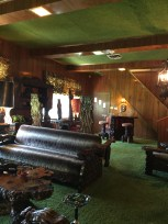 Elvis called it the den but the exotic decor, including shag carpet on the ceiling, led to the room being dubbed the Jungle Room.