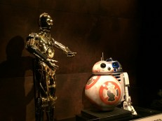 Old friends and new. Star Wars droids.