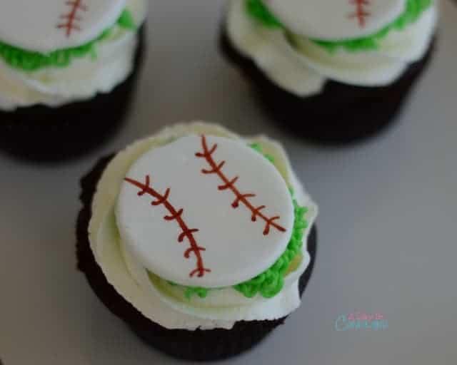 Printable Boy Birthday Party Baseball Cupcake Toppers