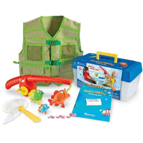 In the bad weather days, you can pretend to fish with this cute set. Click for details.