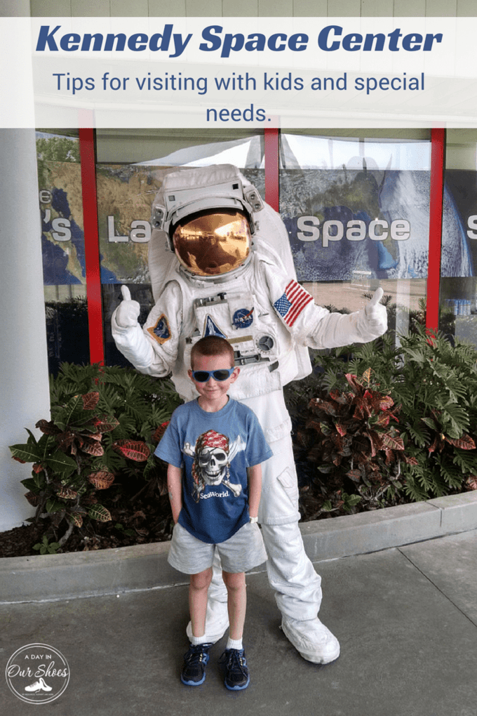 Planning a trip to John F. Kennedy Space Center with your special needs child or other kids? Read my tips-food, planning, tours, sensory...it's all covered in here. #travel #specialneedstravel #sensoryfriendlytravel #KennedySpaceCenter #NASA #space #science