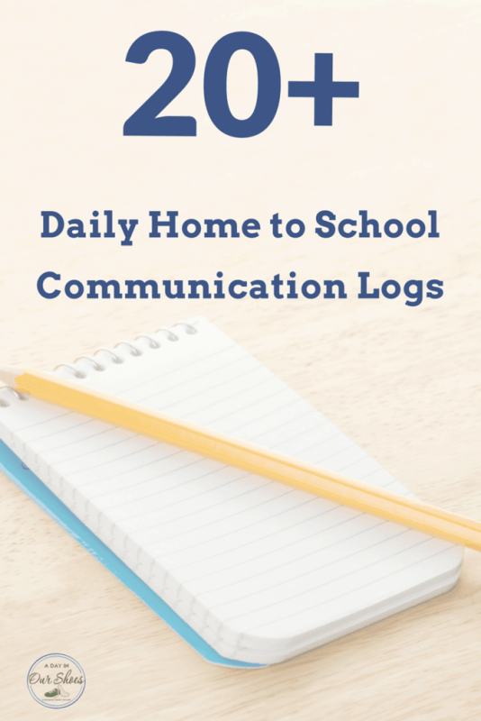daily home to school communication log