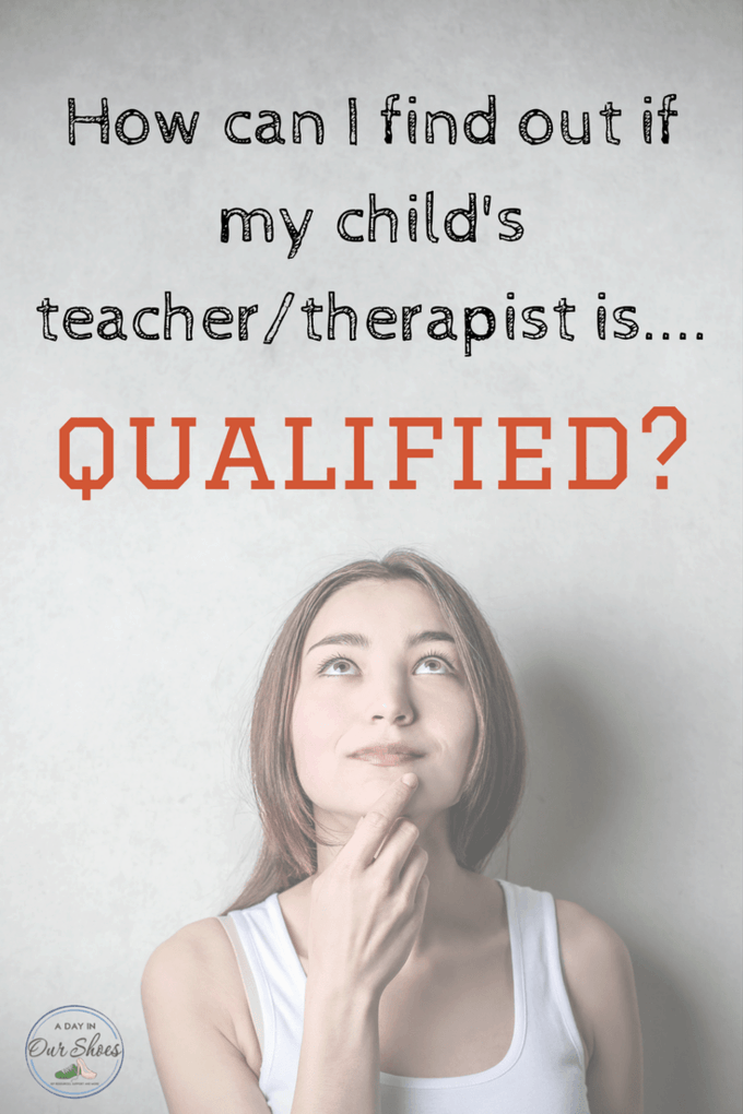 How do I check if a teacher or therapist is qualified? My child has an IEP and I want to know how to check to see if a teacher or therapist is qualified. The long and short of it. #IEPmeeting #IEPgoals #SpecialEducation #autism #IEPadvice