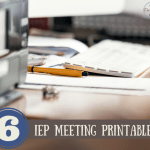 IEP meeting printables
