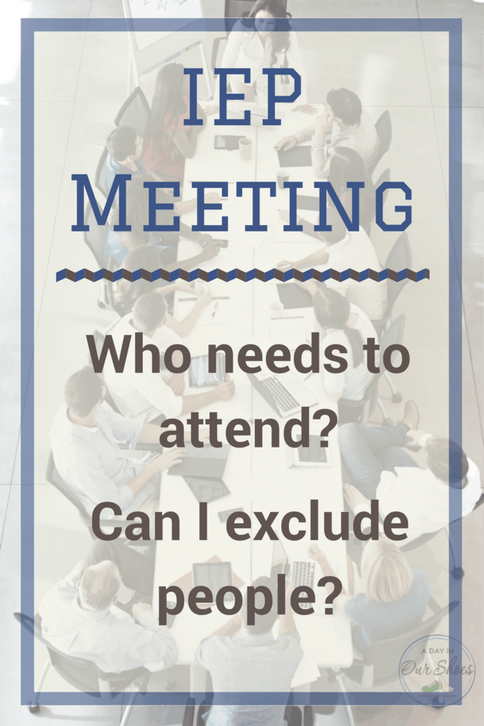 Who should attend my IEP meeting? Too many people at your IEP meeting? The needed staff didn't attend? Here's who needs to attend your IEP meeting and how to make that happen. #IEP #IEPmeeting #IEPmeetingadviceforparents #DontIEPalone