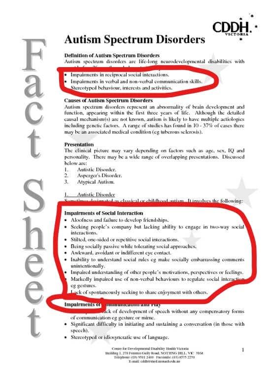 asd ableism fact sheet