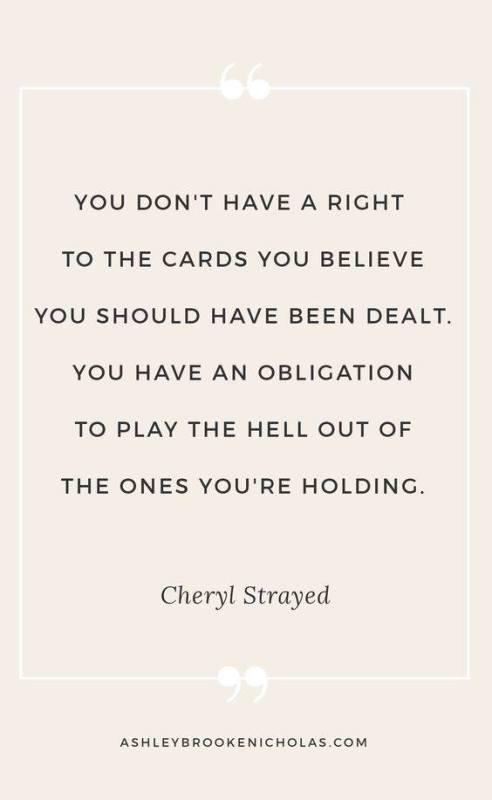 cards we're dealt