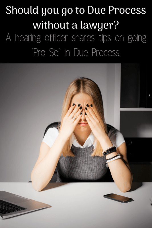 due process hearing without a lawyer