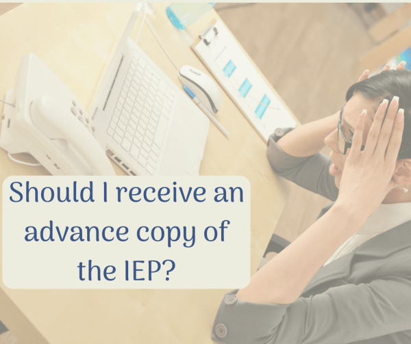 receive IEP before meeting